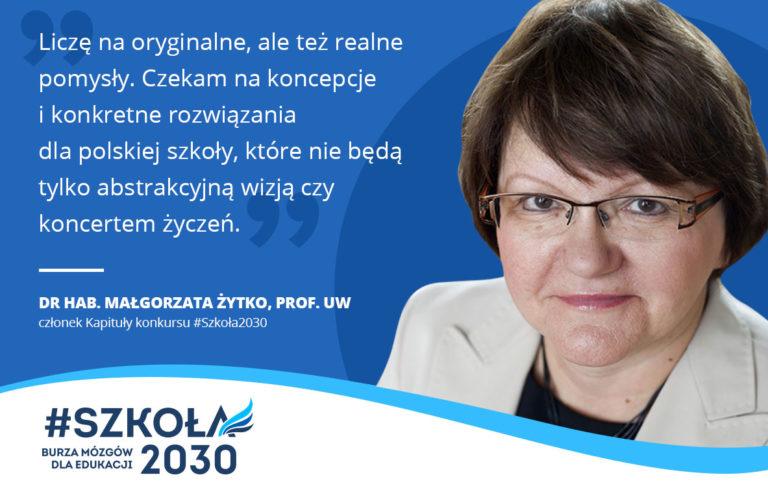 Wywiad z profesor Małgorzatą Żytko, członkiem Kapituły konkursu